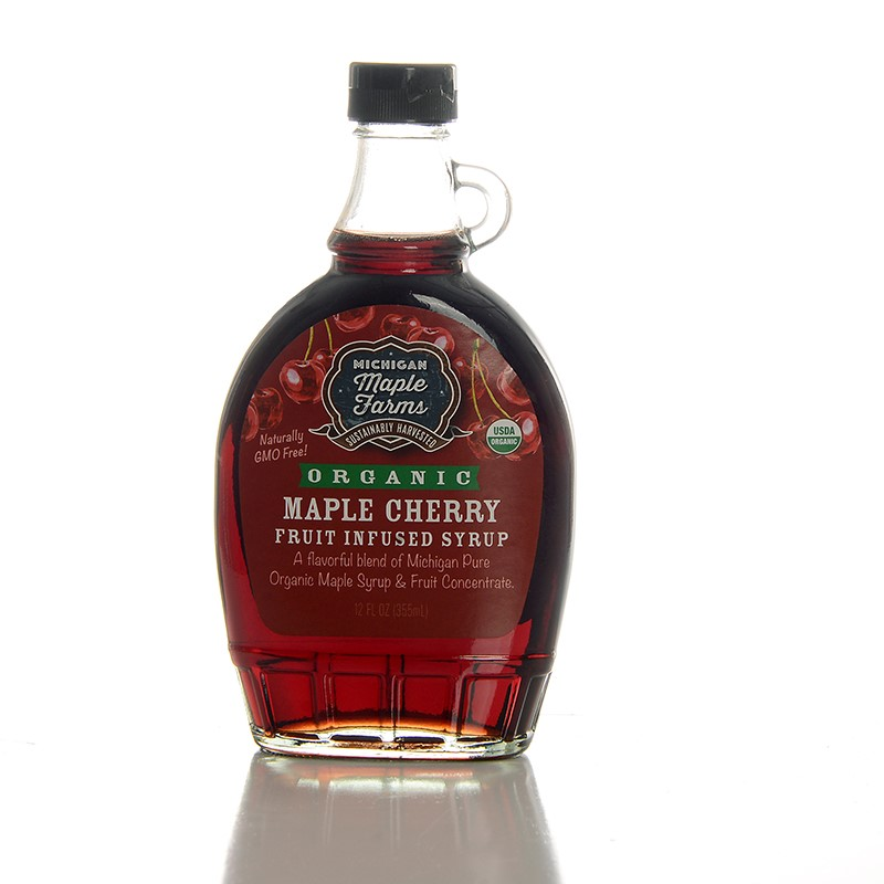 Organic Maple Cherry Syrup 12 oz